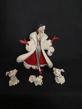 lenox classic disney cruella de vil figurine with three dalmatian puppies