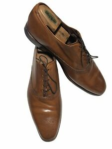 Allen Edmonds Men's Augusta Calfskin Leather Cognac Medallion Oxford's - 12 D/US