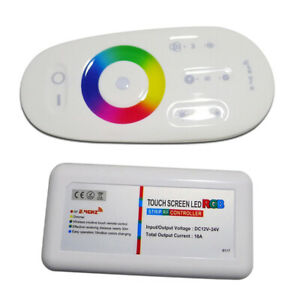 DC 12V-24V RGB Wireless Touch Remote Control Color Changing /Brightness Dimming
