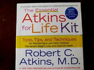 ATKINS DIET; The Essential Atkins for Life Kit :Tools, Tips, and Techniques, New