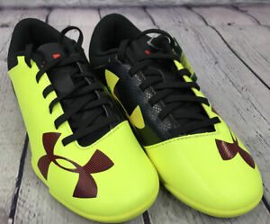 NEW Under Armour Spotlight IN JR Cleats Color Yellow Fusion Red Black Size 1Y