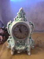 1978 Vintage Ceramic Victorian style Mechanic Clock