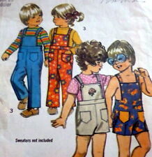 *LOVELY VTG 1970s KIDS OVERALLS Sewing Pattern 2