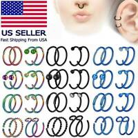 2PCS 20G 8MM Nose Hoop Ring Captive Bead Ring C-Shaped Lip Ear Piercing Jewelry