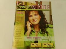 Through the Needle Magazine Marie Osmond Sewing Back Issue 17