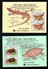 2 NICE MINT S/SHEET OF KOREA, (LIZARDS AND TURTLES), MNH**,1996