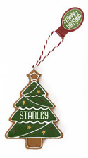 Gingerbread Christmas Tree Hanging Decorations Stanley