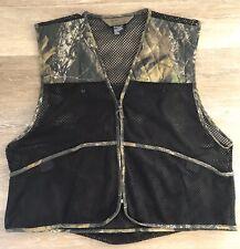 Quail Unlimited Black Mesh Camoflauge Men's Bird Huntjng Vest XL