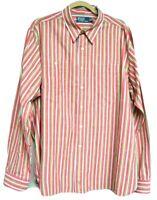 Polo Ralph Lauren Mens 2XL Striped Arrow Red Yellow blue Aztec Button Down Shirt