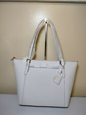 636998842c25d6 Michael Kors Ciara Large EW Top Zip Tote Saffiano Leather Optic White  35T8GC6T9L