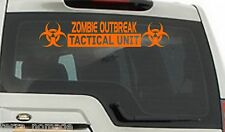 Zombie Outbreak Tactical Unit Sticker, Decal, 4x4, 585mm x 130mm