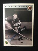 JOHN WILSON 1992 ULTIMATE  AUTOGRAPHED SIGNED AUTO HOCKEY NHL CARD EMBOSSED 65
