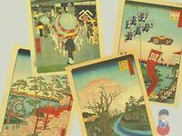 "Utagawa Hiroshige ""Le 100 vedute di Edo"" Stampe Ukiyo-e Washi Japan 26x39cm|Vari"
