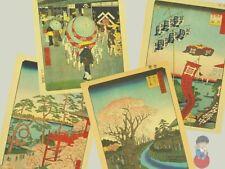 "Utagawa Hiroshige ""Le 100 vedute di Edo"" Stampe Ukiyo-e Washi Japan 26x39cm Vari"