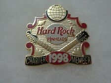 Hard Rock Cafe Pin PinHeads 'CHARTER MEMBER' - Plaque with Globe 1998