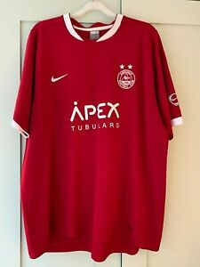 Aberdeen FC Red Nike Shirt Apex Jersey 2007 2008 extra X Large