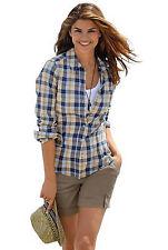Karierte klassische Langarm Damenblusen, - tops & -shirts keine Mehrstückpackung