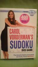 Carol Vorderman's Suduko Interactive DVD Game - puzzles opened / not used