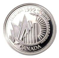 1999 Canada Millennium Series December Silver Proof 25 Cents Quarter!!