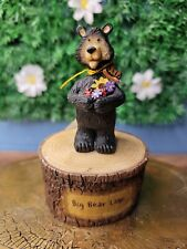 Hand Carved Wood Wooden Bear Figurine 5' Big Bear Lake