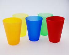 50 Mehrweg-Trinkbecher Multicolor 0,4 Liter Kunststoff Becher Plastikbecher