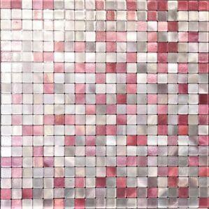 Self-adhesive Mosaic Tile Metal Purple/Pink/Silver Kitchen Bathroom Backsplash