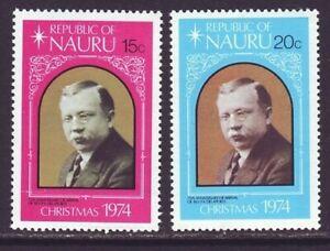 Nauru 1974 SC 118-119 MH Set Christmas