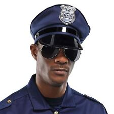 Mens Police Sunglasses Aviators Cop Officer Mirror Novelty Fancy Dress Stag Do