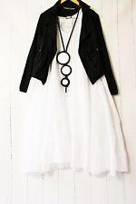 Moonshine Kleid  50 52 54 Weiß Lagenlook Pünktchen Dots Sommer Neu