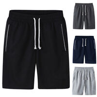 Plus Size Mens Solid Color Drawstring Shorts Sports Jogging  Fitness Pants M-6XL