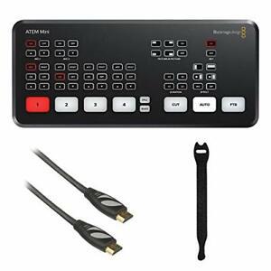 Blackmagic Design ATEM Mini HDMI Live Stream Switcher with HDA-106 HDMI Cable...