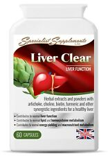 Liver Clear 60 Capsules Garlic Ginger Dandelion Turmeric Fennel Ginger