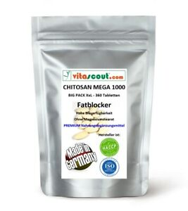 CHITOSAN - 360 - Tabletten - MADE IN GERMANY - OHNE MAGNESIUMSTEARAT - no Kapsel