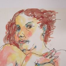 untitled female nude, original Watercolor Robert C. Smith (1926-2018)