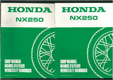 Revue d'Atelier complèmentaire HONDA NX 250 MD21 MD25 Manuel technique 1989-1991