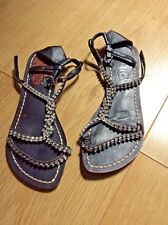 River Island black flat sandals with crystal size 5