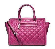 NWT Michael Kors Handbag Selma Large Top Zip Quilted Leather Satchel, Purse $398