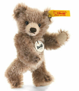 Steiff Mini Brown Tipped Teddy Bear - mohair jointed collectable - 10cm - 040023