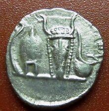 Roman.Denarius Emperor Caracalla Caesar Lituus Bucranium Silver (JK4)
