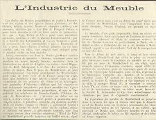 25 ARTICLE DE PRESSE L' INDUSTRIE DU MEUBLE DANS LE DOUBS 1923