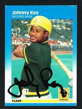 Johnny Ray #618 signed autograph auto 1987 Fleer Baseball Trading Card
