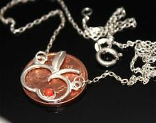 """Lovely 950 Silver Delicate Gem set Chain Necklace 16.73"""" / W 226"""