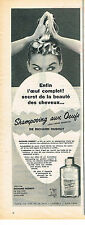PUBLICITE ADVERTISING   1955   RICHARD HUDNUT    shampoing aux oeufs