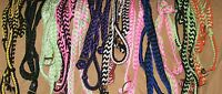 7' Braided, Knotted Nylon, Western Barrel, Roping, Competition Rein - Horse Tack