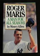 """1986 """"ROGER MARIS A MAN FOR ALL SEASONS""""  MAURY ALLEN HC DJ BOOK"""