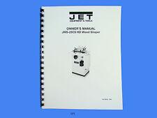 Jet   JWS-25CS Wood Shaper Operator  Maintenance & Parts  Manual *171