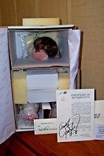 DISNEY CHRISTMAS BABY BELLE by MARIE OSMOND TODDLER/W SNOW GLOBE *SIGNED* NRFB