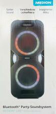 MEDION P67038 MD44438 Party Soundsystem BluetoothTower LED Akku mit Mikrofon