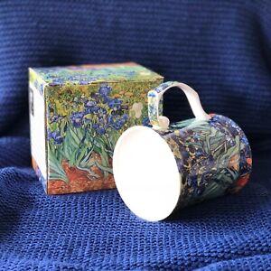 Fine Bone China  Van Gogh Irises Cup Tea Mug 415ml Boxed Gift Mother Birthday