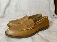 Women's Sperry Top Sider Waypoint Penny Loafers Tan Size 11 STS82848